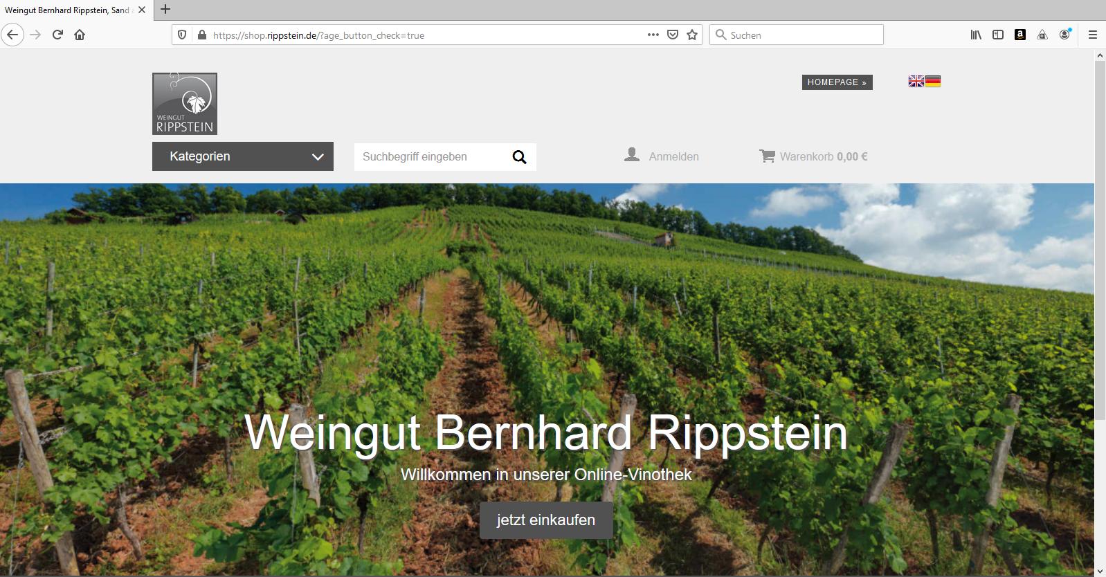 Online-Shop Weingut Bernhard Rippstein
